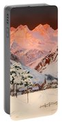 Alpine Mountain Scene Portable Battery Charger