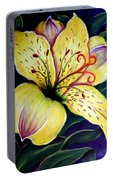 Alstroemeria Portable Battery Charger