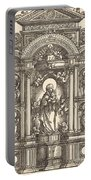 Altar With The Virgin And Child And Saints Christopher, Barbara, George And Catherine Portable Battery Charger