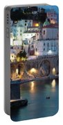 Amalfi Coast At Night Portable Battery Charger