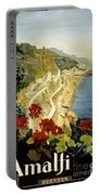 Amalfi Italy Italia Vintage Poster Restored Portable Battery Charger