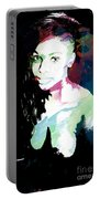 Amani African American Nude Fine Art Painting Print 4966.03 Portable Battery Charger