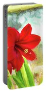 Amaryllis On  The Porch Portable Battery Charger