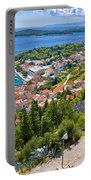 Amazing Historic Town Of Hvar Aerial View Portable Battery Charger