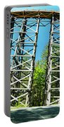 Amazing Kinsol Wooden Trestle Panorama View, Vancouver Island, Bc, Canada. Portable Battery Charger