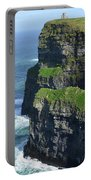 Amazing Look At The Sea Cliff's Of Moher In Ireland Portable Battery Charger