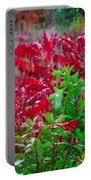 Amazing Nature Blessings Magic Colors Cherry Red Green Shrubs Plants Save  The Environment Portable Battery Charger