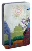 Amazing Wall Art Painting Or Elephants Portable Battery Charger