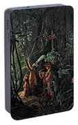 Amazonian Indians Worshiping The Sun God Portable Battery Charger