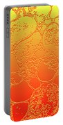 Amber Crackle Portable Battery Charger