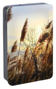 Amber Waves Of Pampas Grass Portable Battery Charger