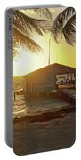 Ambergris Cayr Sunrise Palm Trees San Pedro Belize Portable Battery Charger