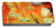 America At Sunset  Portable Battery Charger