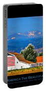 America The Beautiful Poster Portable Battery Charger