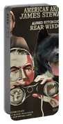 American Akita Art Canvas Print - Rear Window Movie Poster Portable Battery Charger