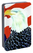 American Bald Eagle Painting #256 Portable Battery Charger
