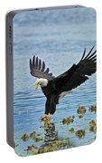 American Bald Eagle Sets Down On Fish Portable Battery Charger