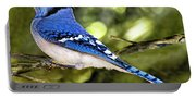 Blue Jay Bokeh Portable Battery Charger