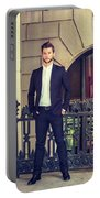 American Businessman With Beard Working In New York Portable Battery Charger