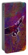 American Crow Flying Ave Fauna  Portable Battery Charger