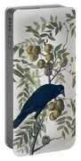American Crow Portable Battery Charger by John James Audubon