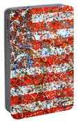 American Flag Abstract 2 With Trees  Portable Battery Charger