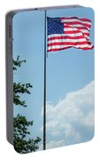 American Flag Flying Proud Portable Battery Charger