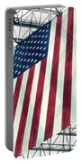 American Flag In Kennedy Library Atrium - 1982 Portable Battery Charger
