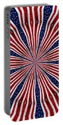 American Flag Kaleidoscope Abstract 6 Portable Battery Charger