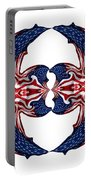 American Flag Polar Coordinate Abstract 1 Portable Battery Charger