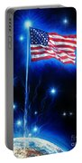 American Flag. The Star Spangled Banner Portable Battery Charger