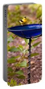 American Goldfinch At Water Bowl Portable Battery Charger