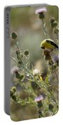 American Goldfinch Having Lunch On Bakery Hill Portable Battery Charger