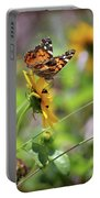 American Lady Butterfly By The Beach Portable Battery Charger