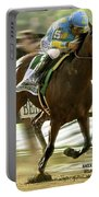 American Pharoah And Victory Espinoza Win The 2015 Belmont Stakes Portable Battery Charger