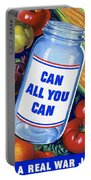 American Propaganda Poster Promoting Canned Food Portable Battery Charger