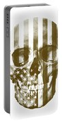 American Skull Beige Portable Battery Charger