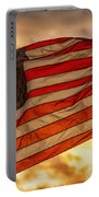 American Sunset On Fire Portable Battery Charger