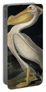 American White Pelican Portable Battery Charger by John James Audubon
