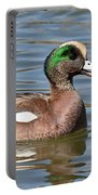 American Widgeon Calling From The Water Portable Battery Charger