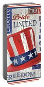 Americana Patriotic Portable Battery Charger