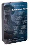 America's Team Poetry Art Portable Battery Charger by Stanley Mathis