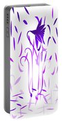 Amethyst Dancing Flowers Portable Battery Charger