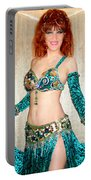 Ameynra Belly Dance Fashion. Emerald 09 Portable Battery Charger