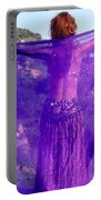 Ameynra Belly Dance. Purple Veil Portable Battery Charger