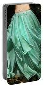 Ameynra Design Aqua-green Chiffon Skirt Portable Battery Charger