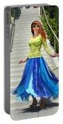 Ameynra Fashion. Petal Skirt. Model Sofia Portable Battery Charger