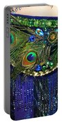 Ameynra Fashion Skirt With Peacock Feathers Portable Battery Charger