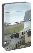 Amish Children Walk To The Barn Portable Battery Charger