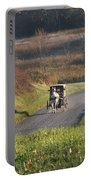 Amish Country Horse And Buggy In Autumn Portable Battery Charger